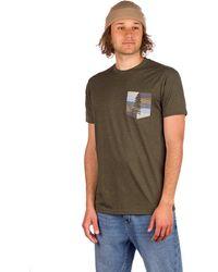 Tentree Spruce Stripe Pocket T-Shirt verde