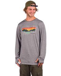 Coal Klamath Long Sleeve T-Shirt - Grau