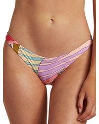 Billabong Surfadelic Tropic Bikini Bottom estampado - Morado