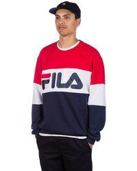Fila Straight Crew Sweater negro - Rojo