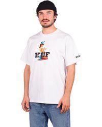 Huf Playboy Bunny Logo T-Shirt blanco
