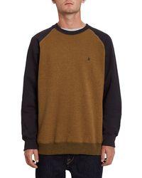 Volcom Homak crew sweater marrón