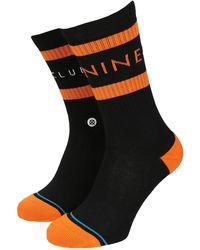 Stance Nine club socks negro