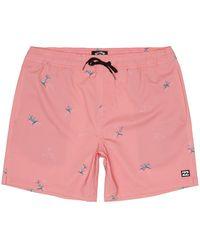Billabong Sundays Pigment Layback Shorts rosado