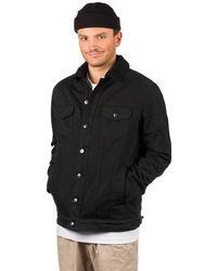 Dravus Sherpa Trucker Jacket negro