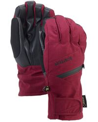 Burton Gore-Tex Under Gloves azul - Rojo
