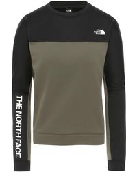 The North Face Train N Logo Crop Sweater verde