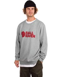Fjallraven Logo Sweater gris