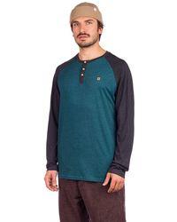 Tentree Henley Classic Long Sleeve T-Shirt azul