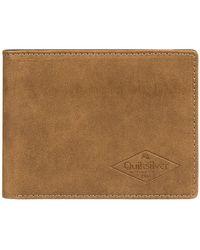 Quiksilver Slim vintage iii wallet amarillo - Marrón