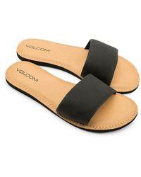Volcom Simple Slide Sandals negro