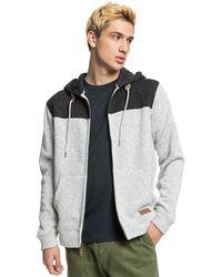 Quiksilver Keller block zip hoodie gris