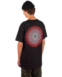 Spitfire Classic Swirl Fade T-Shirt red to white fade - Rot