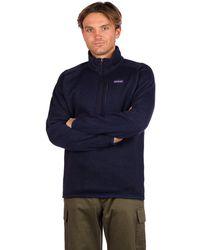 Patagonia Better Sweater 1/4 Zip Fleece Pullover azul