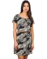 Iriedaily La Palma Dress estampado - Negro