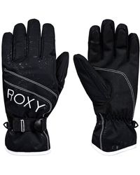 Roxy - Jetty Solid Gloves negro - Lyst