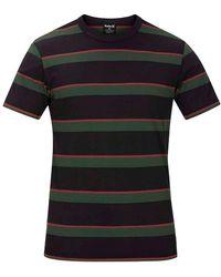 Hurley Dri-Fit Harvey Stripe Patch T-Shirt - Schwarz