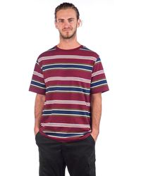 Zine Daze Stripe T-Shirt estampado - Rojo
