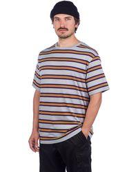 Zine Bonus Stripe T-Shirt gris - Multicolor
