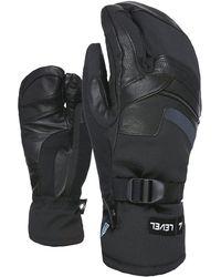 Level Ranger Trigger Leather Mittens - Schwarz