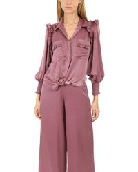 MISA Los Angles Donata Top - Purple