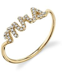 Sydney Evan - Mrs. Pavé Diamond Ring - Lyst