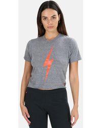 Aviator Nation Bolt Boyfriend T-shirt - Grey