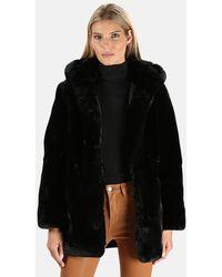 Apparis Marie Faux Fur Coat - Black