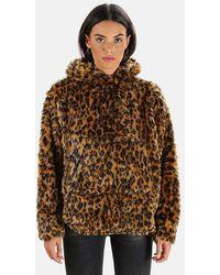 R13 Fuzzy Shirttail Hoodie Sweater - Brown