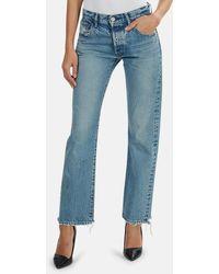 Moussy Vintage Norwalk Straight Jeans - Blue