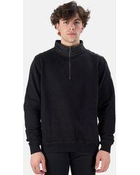 Belstaff Jaxon Quarter Zip Pullover Sweater - Black