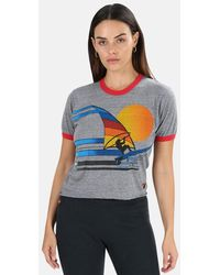 Aviator Nation Windsurf Jump Boyfriend Ringer T-shirt - Grey