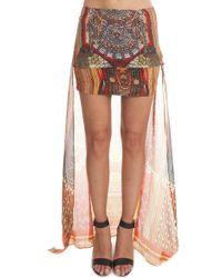 Camilla Short/long Magic Skirt - Brown