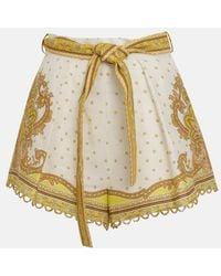 Zimmermann Bells Paisley Tuck Short - Yellow