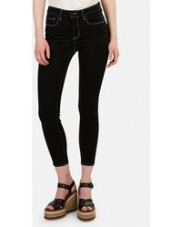 L'Agence Margot High Rise Skinny Jeans - Black
