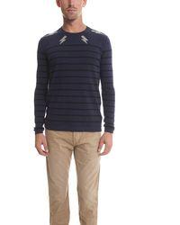 Markus Lupfer Flash Intarsia Sweater Sweater - Blue