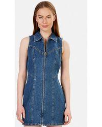 GRLFRND Blue Denim Colette Short Dress