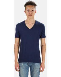 V :: Room Short Sleeve V Neck Cash T-shirt - Blue