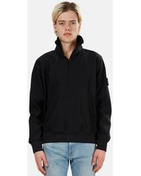 Stone Island Ghost Nylon 3/4 Zip Pullover Jacket - Black
