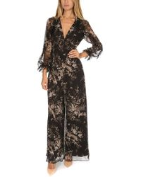 7f4e8b674fc Zimmermann Maples Wrap Playsuit in Black - Lyst