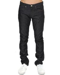 Acne Studios Max Raw Jeans - Blue
