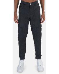 Stone Island Nylon Seersucker Cargo Pants - Black