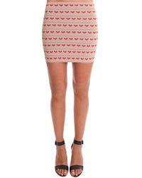 Pleasure Doing Business Hear Bandeed Mini Skirt - Red