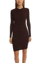 ATM Ls Henley Dress - Black