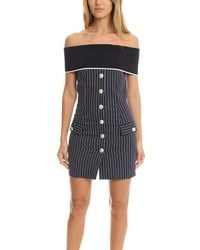 Balmain Stripe Dress - Blue