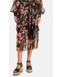 Zimmermann Wavelength Fluted Skirt - Black