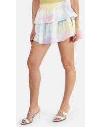 LoveShackFancy Ruffle Mini Skirt - White