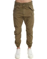 R13 Military Cargo Pants - Green