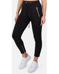 The Range Alloy Rib Zip Trousers - Black