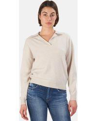 NAADAM V Neck Pullover Jumper - Multicolour